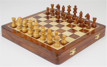 Magnetic Travel Chess Set with Top-side Board - 12""