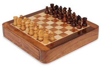 """Magnetic Travel Chess Set with Drawer 7.5"""""""