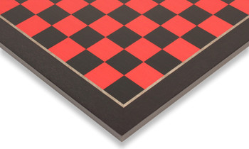 Tulip Red & Black High Gloss Deluxe Chess Board - 2.375' Squares