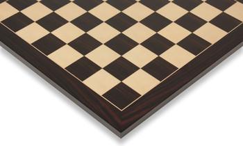 "Macassar Ebony & Maple Standard Chess Board - 1.5"" Squares"