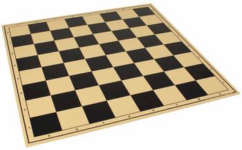 "The Chess Store Premium Vinyl Rollup Chess Board Black - 2.375"" Squares"