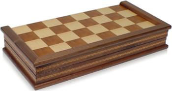 """Wanut Folding Chess Case - 17"""""""