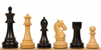 """Bridled Stallion Staunton Chess Set in Ebony & Boxwood - 4.75"""" King"""