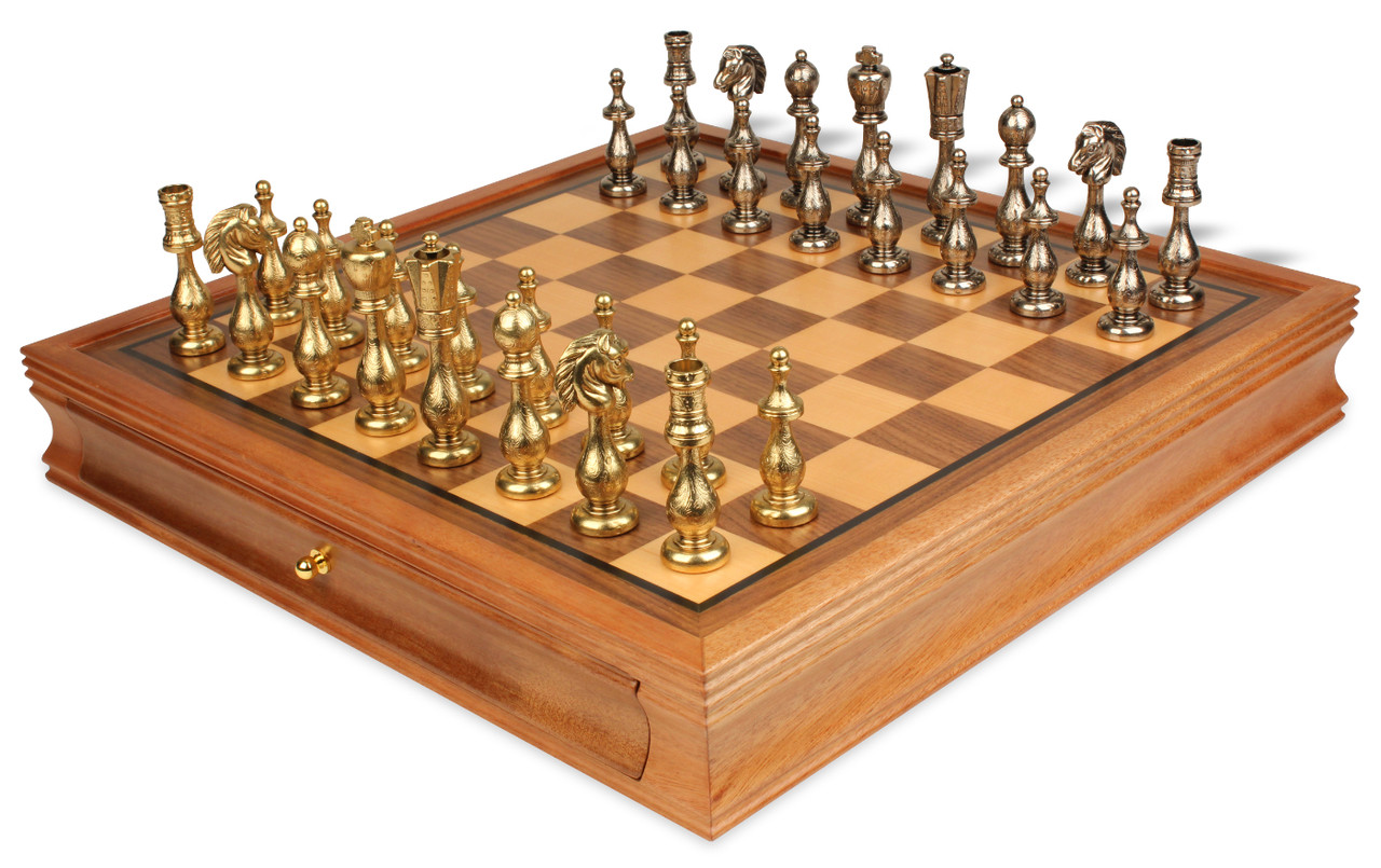 chess sets for sale arabesque brass amp nickel plated staunton chess set with 29974