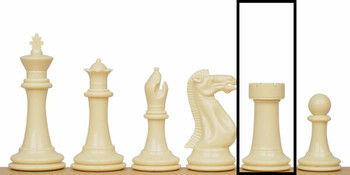Executive Plastic Chess Set Single Rook - White