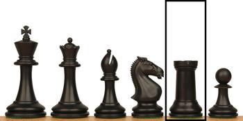 ProTourney Plastic Chess Set Single Rook - Black