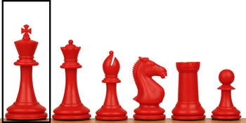 ProTourney Plastic Chess Set Single King - Red