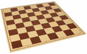 """Brown & Buff Vinyl Rollup Chess Board Brown - 2.25"""" Squares (Imperfect)"""