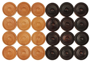 "Center Dot Wooden Checkers (1.25"")"