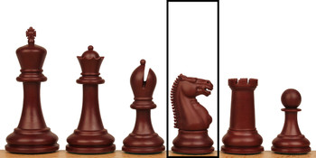 Zukert Plastic Chess Set Single Knight - Burgundy