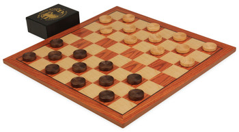 Roeswood Checker Board Set (Beaded Wooden Checkers)