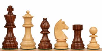 "German Knight Staunton Chess Set in Acacia & Boxwood - 3.25"" King"