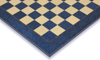 "Blue Ash Burl & Erable High Gloss Deluxe Chess Board - 1.5"" Squares"