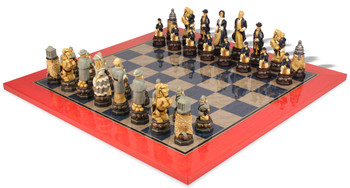 Large American Civil War Theme Chess Set Deluxe Package