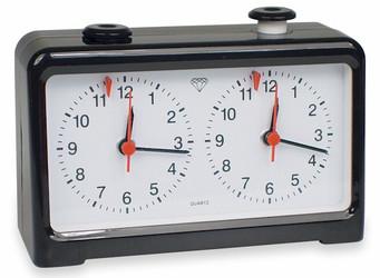 The Chess Store Easy-Read Battery Powered Quartz Analog Chess Clock - Black