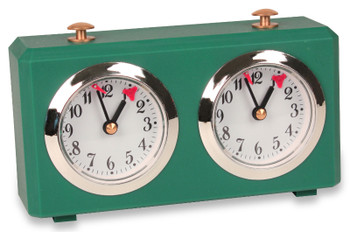 The Chess Store Club Special Wind-Up Analog Chess Clock - Green