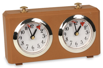 The Chess Store Club Special Wind-Up Analog Chess Clock - Tan