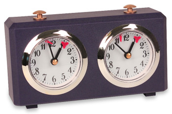 The Chess Store Club Special Wind-Up Analog Chess Clock - Navy