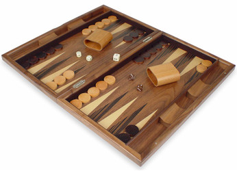 Pinwheel Walnut Backgammon Set
