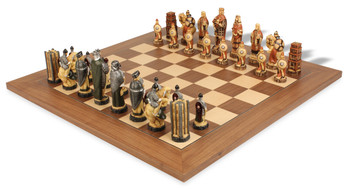 Battle of Hastings Hand Decorated Theme Chess Set Package