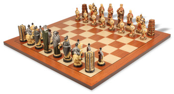 Battle of Hastings Hand Decorated Theme Chess Set Standard Package