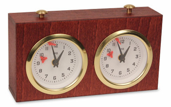 Bhb Exklusiv Chess Clock - Mahogany