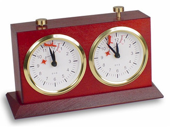 BHB Large Tiltback Chess Clock - Mahogany