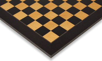 "Black & Ash Burl High Gloss Deluxe Chess Board 1.5"" Squares"