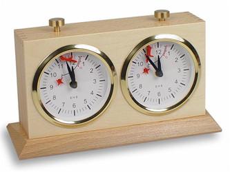 BHB Large Tiltback Chess Clock - Natural