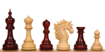 "Bucephalus Staunton Chess Set in African Padauk & Boxwood - 4.5"" King"