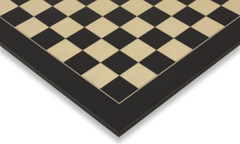 "Black & Erable Deluxe Chess Board - 2.125"" Squares"