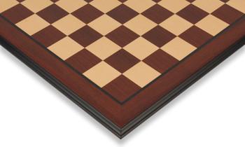 "Bud Rosewood & Maple Molded Edge Chess Board - 2"" Squares"