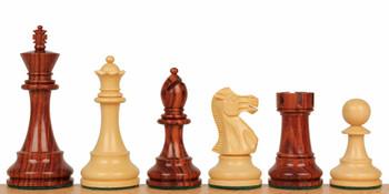 "British Staunton Chess Set in Rosewood & Boxwood - 3"" King"