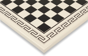 "White & Black Roman Chess Board - 1.75"" Squares"