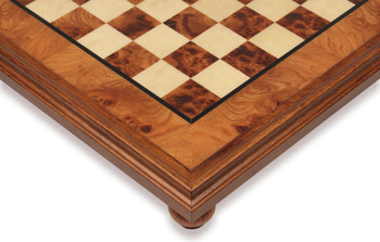 "Elm Root & Erable Framed Chess Board - 1.5"" Squares"
