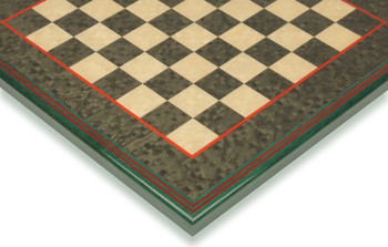 "Green & Erable Framed Chess Board - 1.5"" Squares"