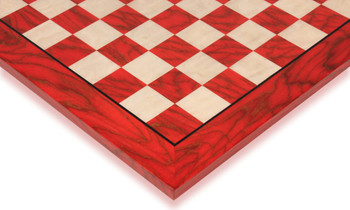 "Red & Erable Chess Board, 2"" Squares"