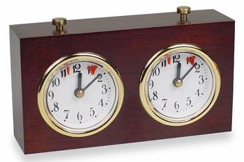 TCS Standard Wood Chess Clock - Dark