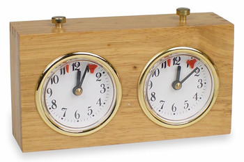 TCS Standard Wood Chess Clock - Natural