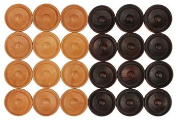 "Center Dot Wooden Checkers (1.125"")"