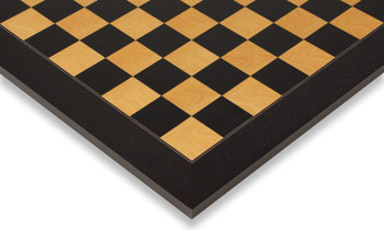 "Black & Ash Burl High Gloss Deluxe Chess Board 2.25"" Squares"