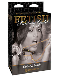 Fetish Fantasy Gold Collar & Leash