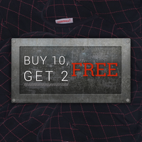 Black Quilted: Buy 10, Get 2 Free