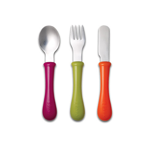Beaba Set Of 3 Stainless Steel Cutlery - Gipsy