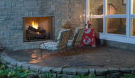 "Superior 36"" Paneled Outdoor Vent-Free Fireplace"