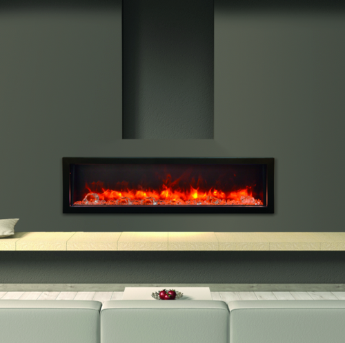 BI-60 Deep Panorama Amantii Electric Built in Fireplace. The Panorama Series of built-in electric fireplaces have been designed to give you the maximum in flexibility in selecting a unit that perfectly suits your needs.
