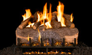 Realfyre Mountain Crest Oak Gas Logs with G31 3-Tiered Burner System