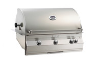 Firemagic Aurora A790i - Analog Style Built-In Grill with Backburner & Rotisserie Kit and Infrared Burner on Left Side