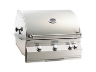 Firemagic Aurora A660i Built-In Grill - Analog Style with Backburner & Rotisserie Kit and Left Side Infrared Burner