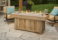 Outdoor Greatroom Vintage Linear Gas Fire Pit Table
